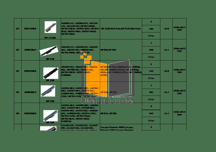 PDF manual for HP Laptop OmniBook XT1000S