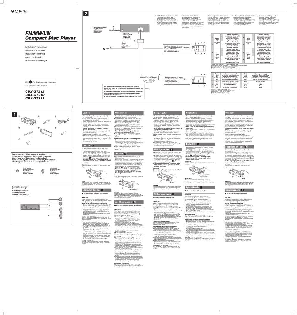 medium resolution of  cdxgt 111 210 212 pdf 0 download free pdf for sony cdx gt210 car receiver manual sony