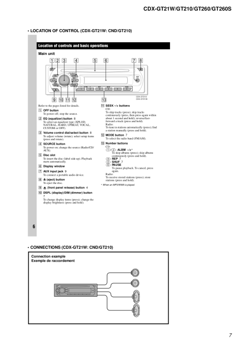 small resolution of sony car receiver cdx gt210 pdf page preview pdf manual