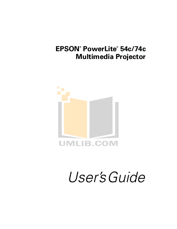 Download free pdf for Epson PowerLite 54c Projector manual