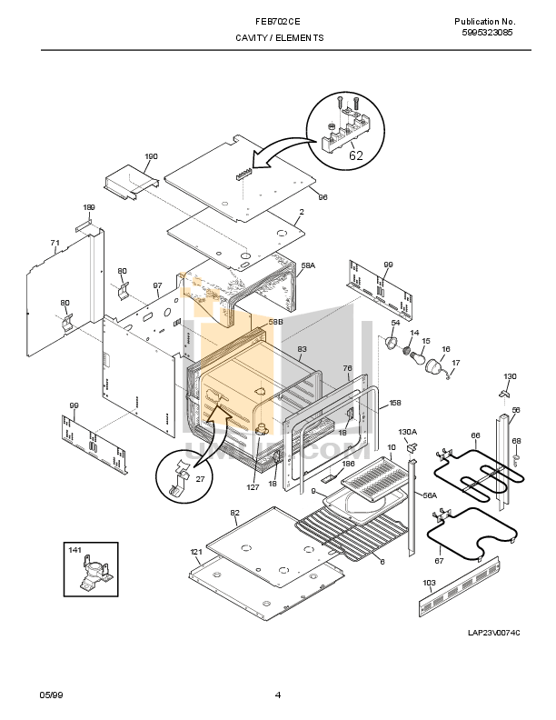 PDF manual for Frigidaire Oven FEB702CESH