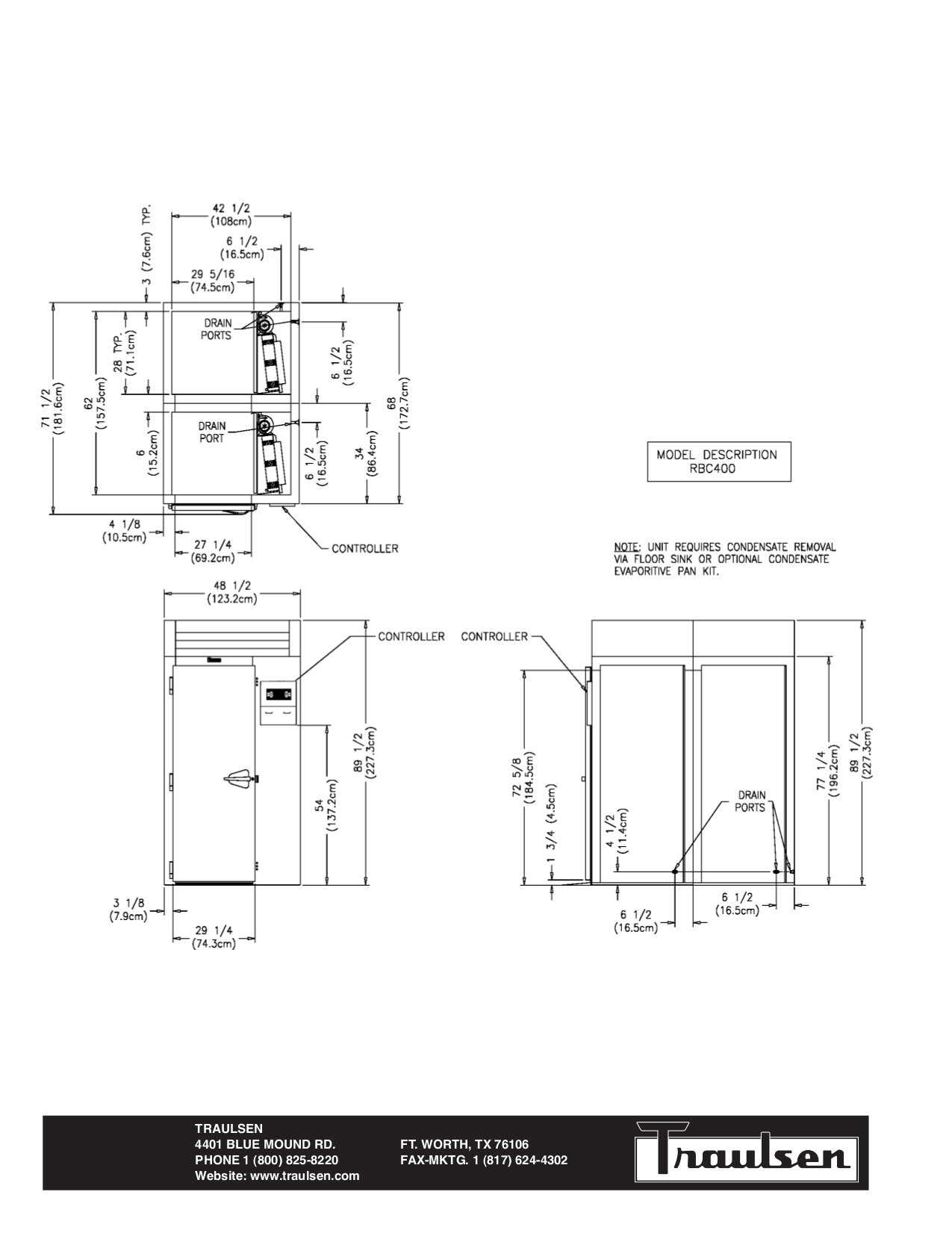 PDF manual for Traulsen Refrigerator RBC400RT