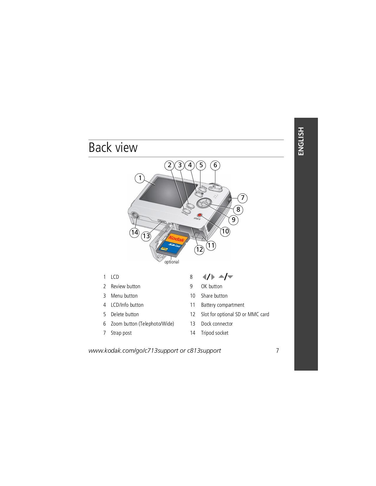 PDF manual for Kodak Digital Camera EasyShare C813
