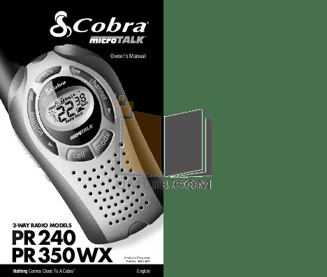 Cobra Microtalk Cxt135 Manual