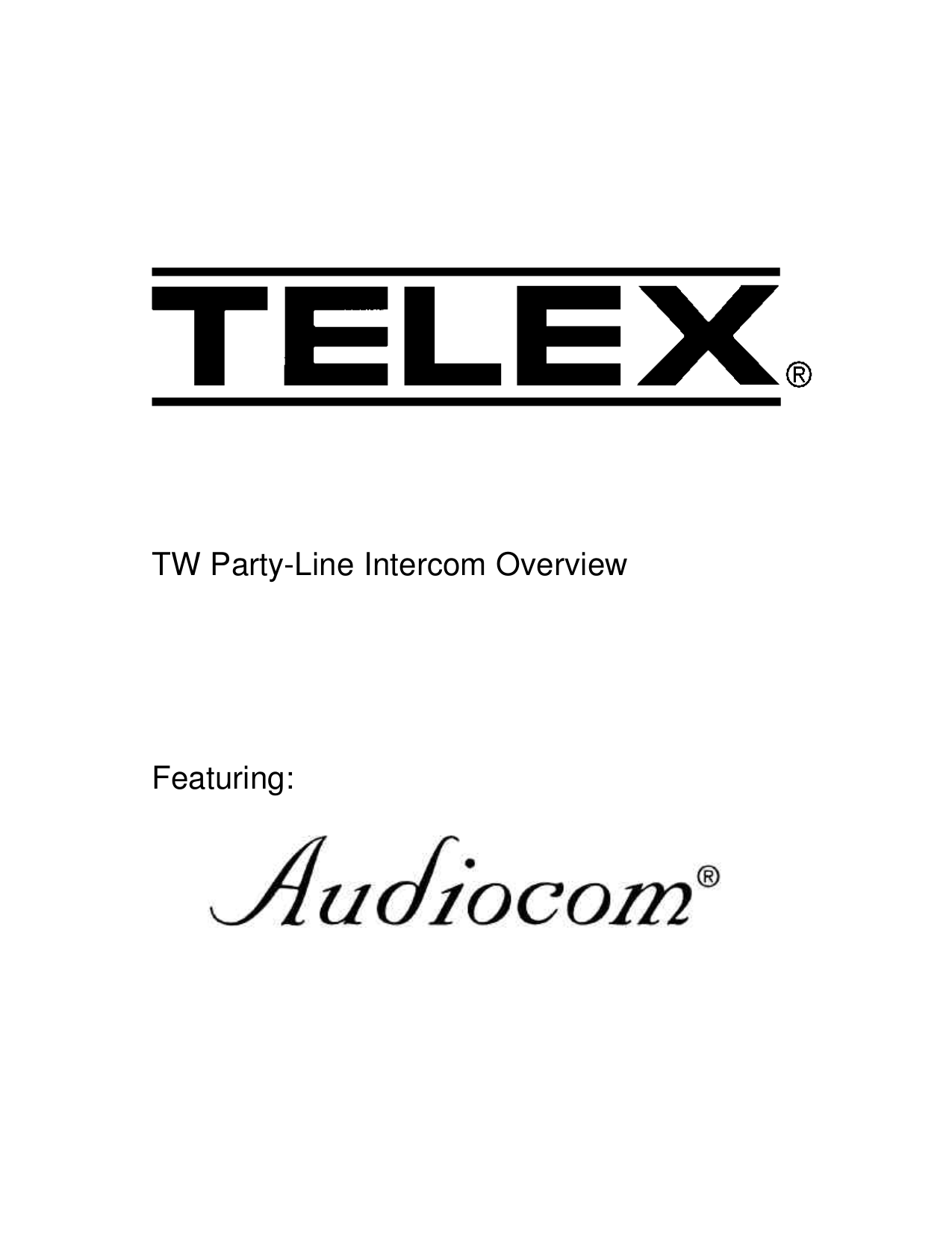 Download free pdf for Telex BP-1000 Intercom System Other