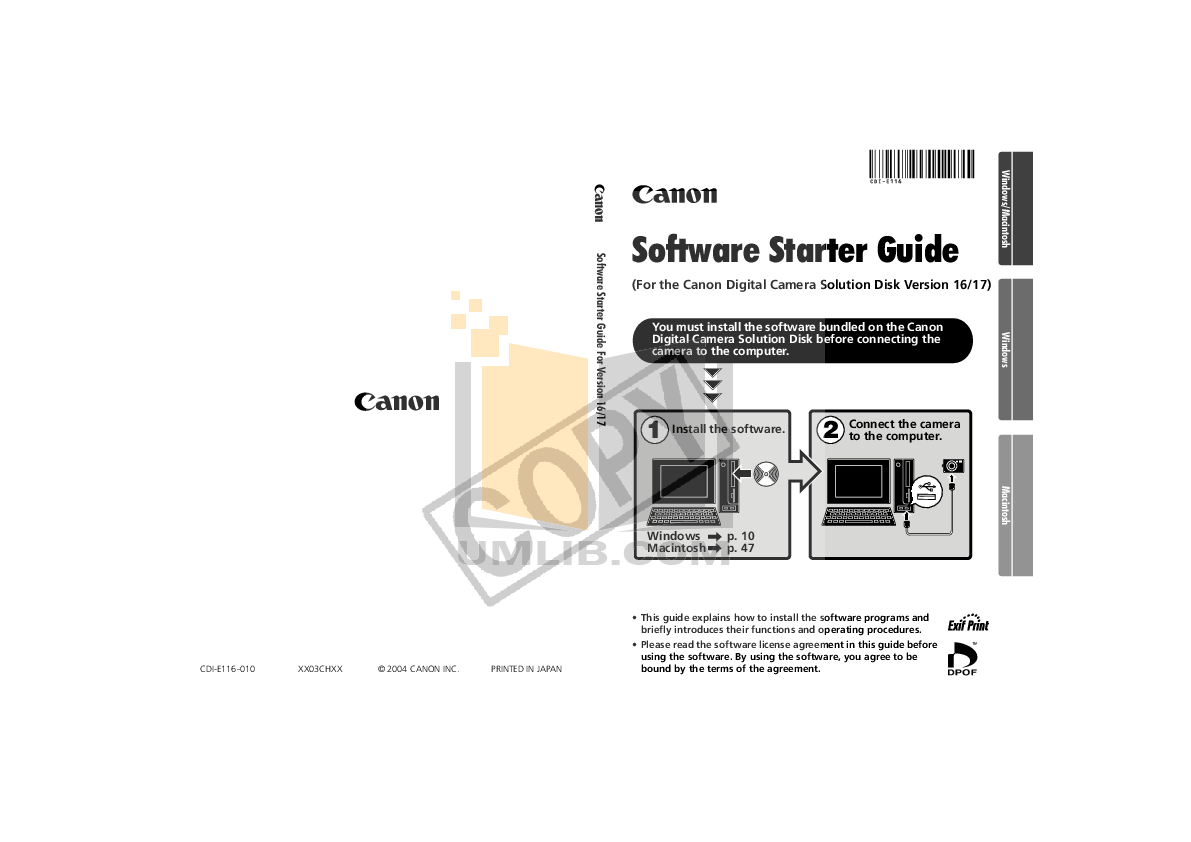 Download free pdf for Canon Powershot S500 Digital Camera