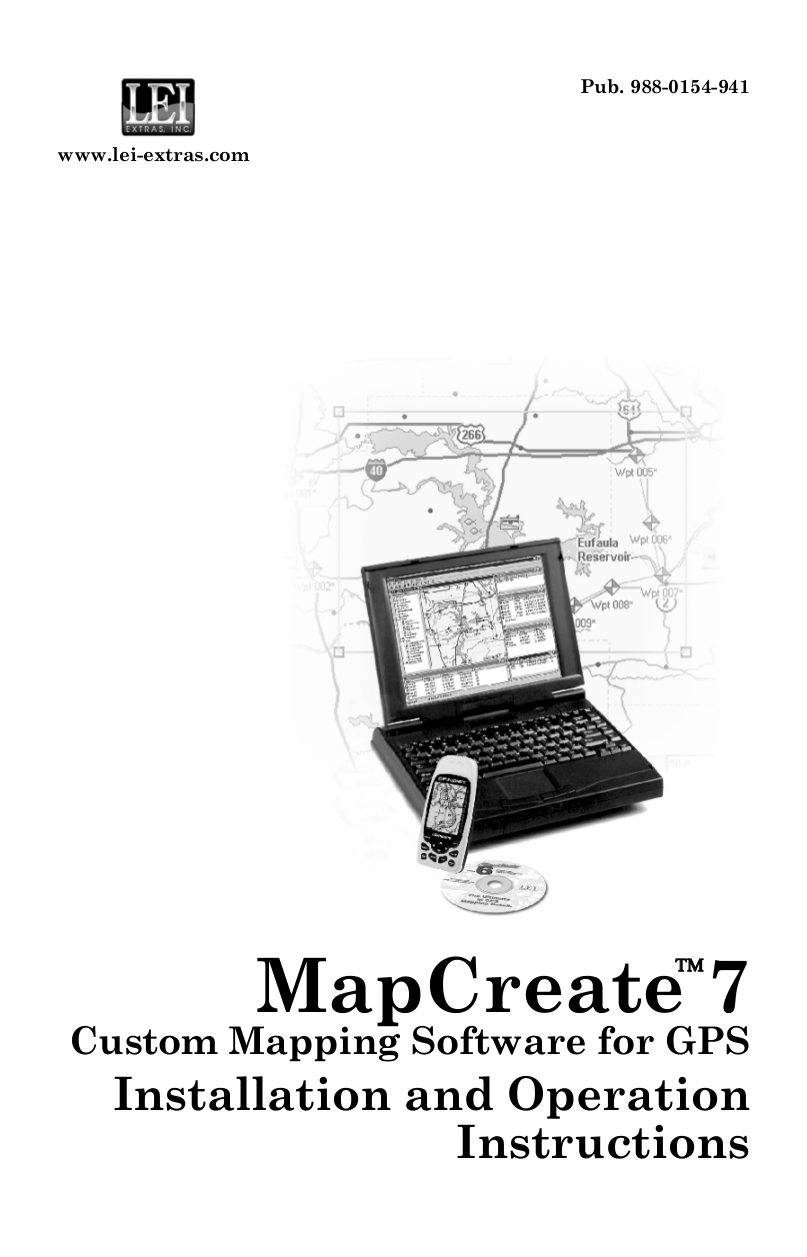 Download free pdf for Lowrance MapCreate 5 Software Other
