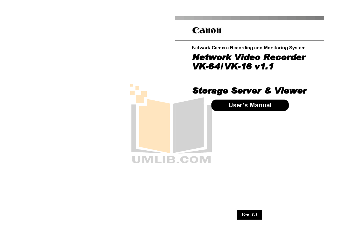 Download free pdf for Canon VB-C50FSi Security Camera manual