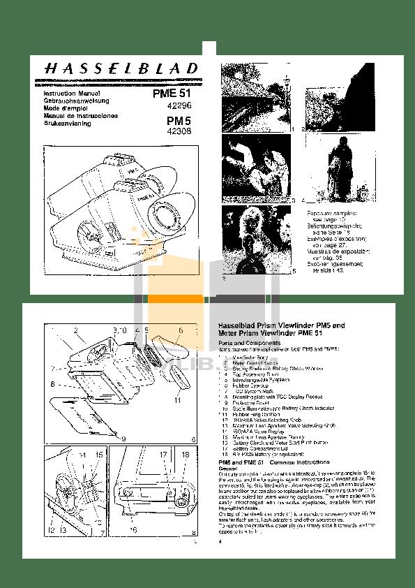 Download free pdf for Hasselblad Meter Prism finder PME 51