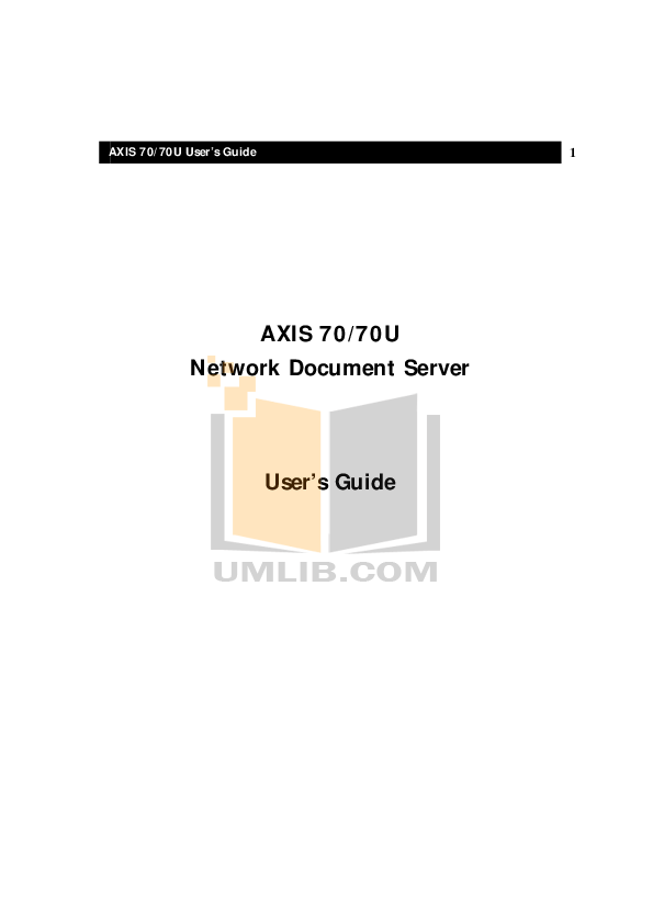 Download free pdf for Axis 7000 Network Document Server