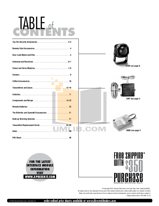 PDF manual for DEI Other Hornet 553T Car Alarms