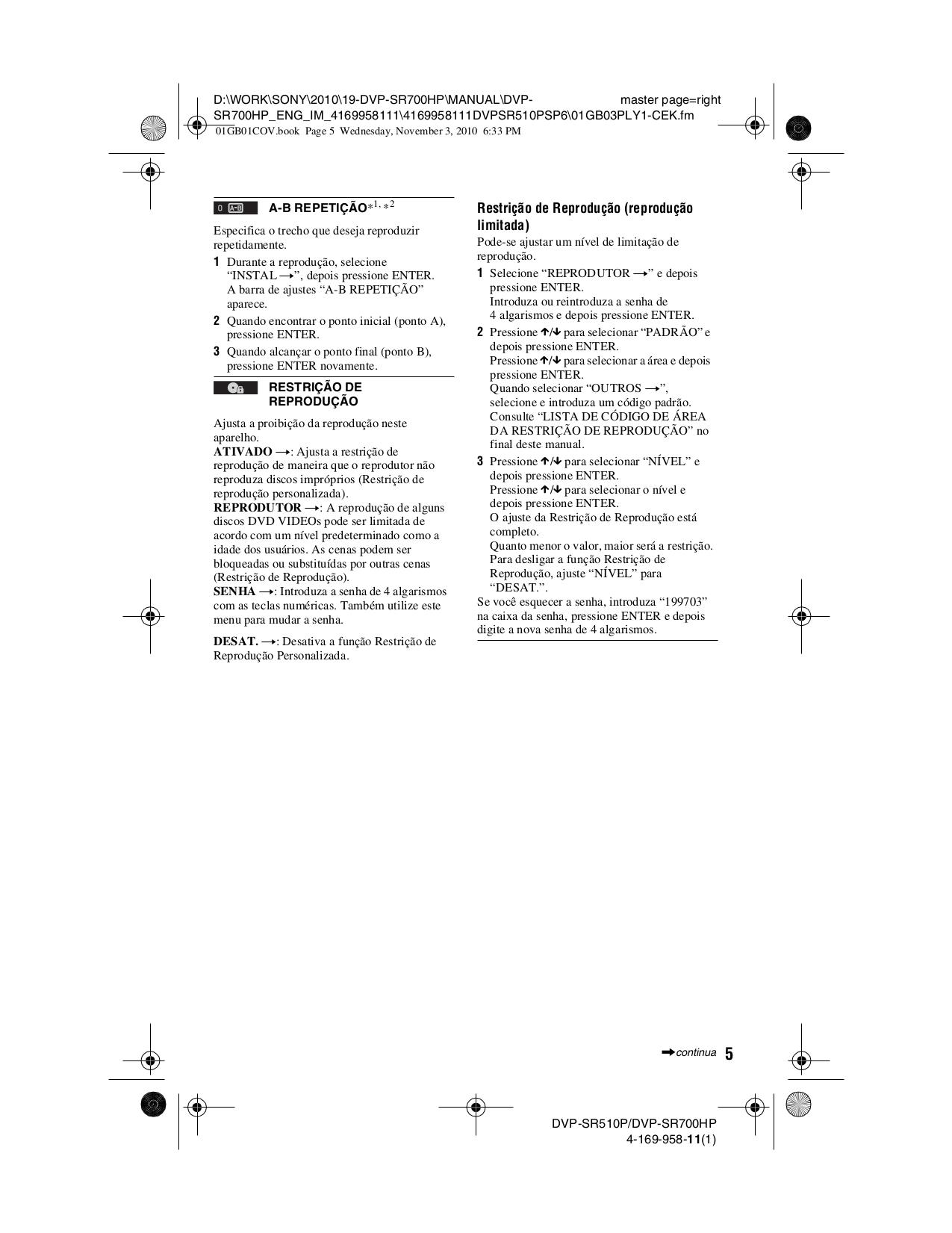 PDF manual for Sony MP3 Player Walkman NWZ-S615F