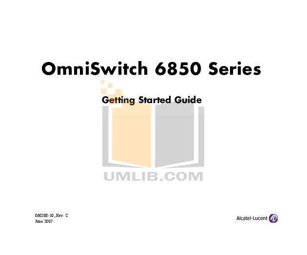 Download free pdf for Alcatel-Lucent OmniSwitch 6850-48