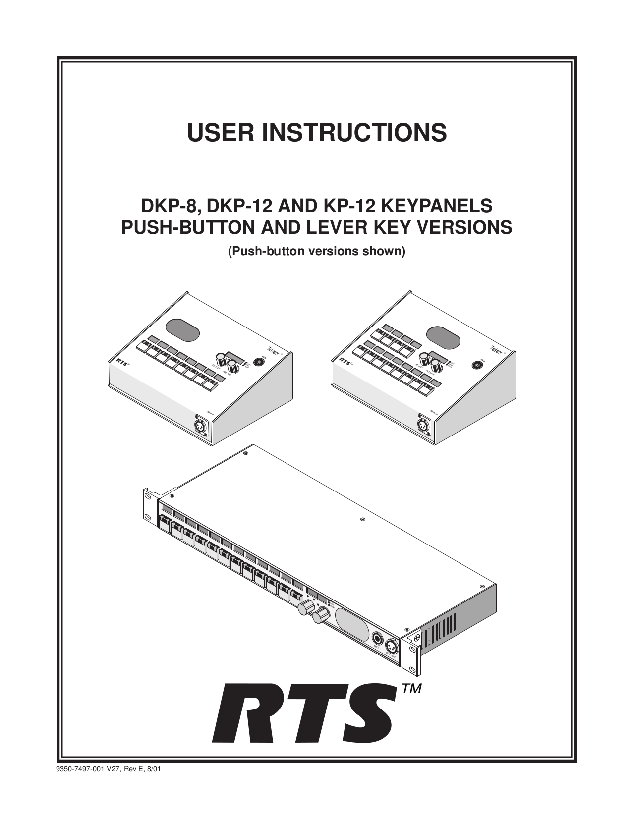 Download free pdf for Telex IFB-828 Intercom System Other
