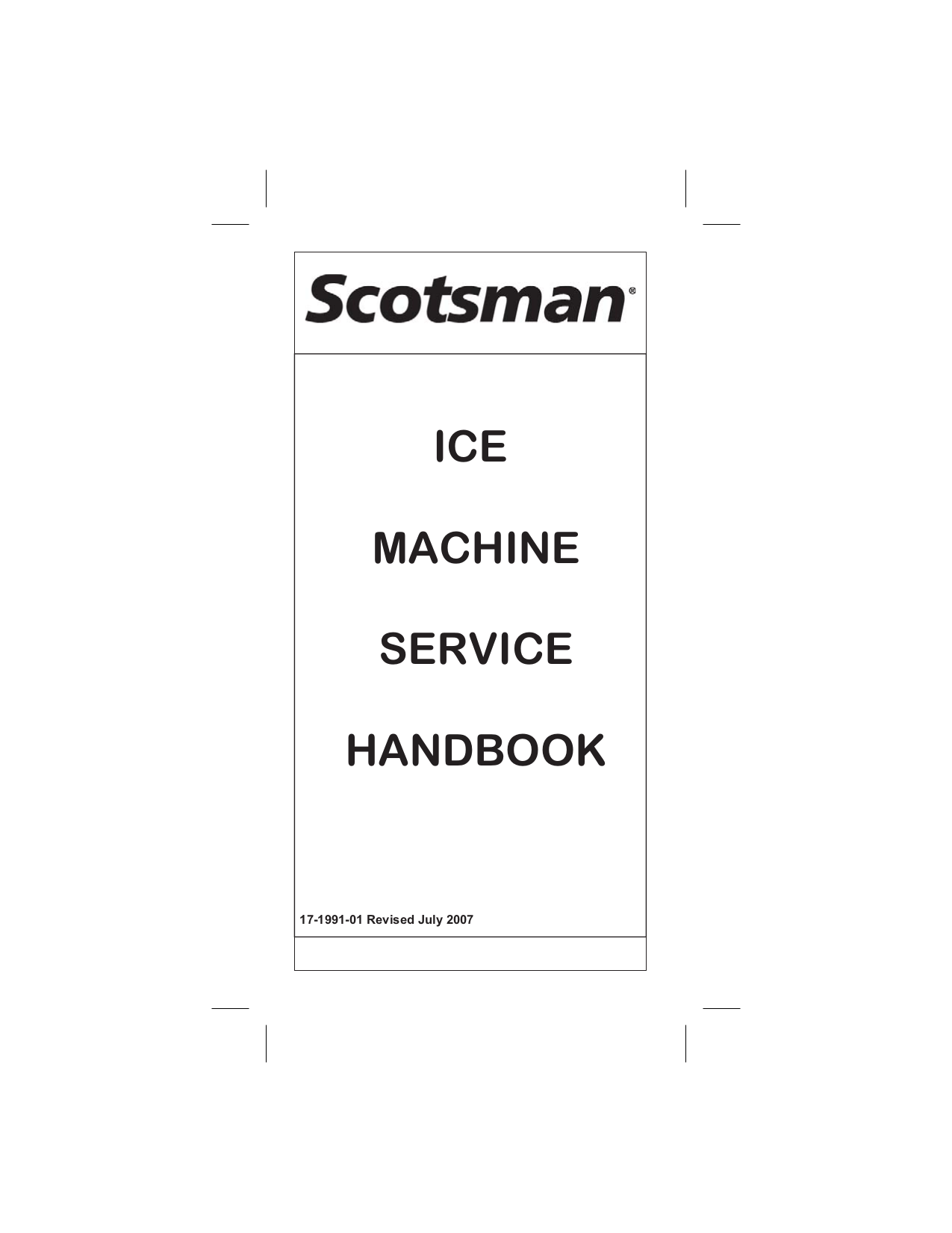 Download free pdf for Scotsman FME804 Ice Machine Other manual