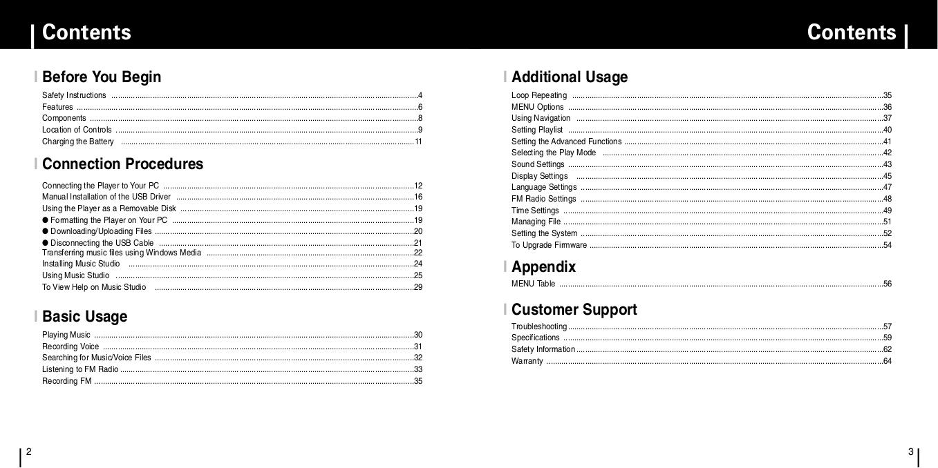 PDF manual for Samsung MP3 Player yePP YP-F1