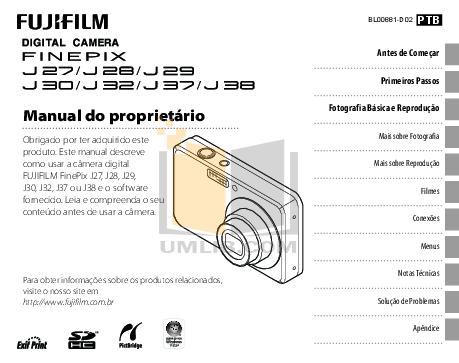 Download free pdf for FujiFilm Finepix J38 Digital Camera