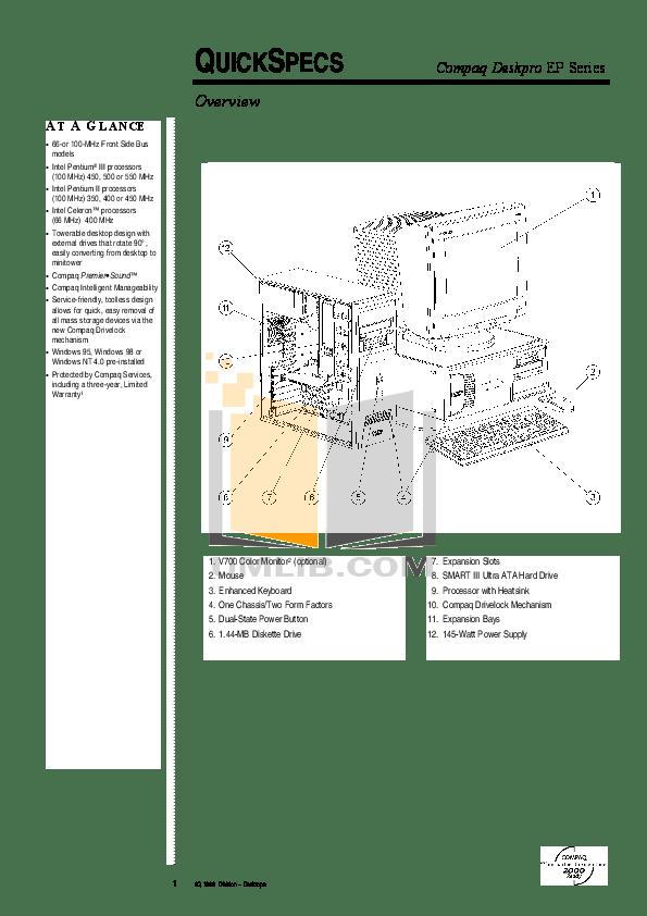 Download free pdf for HP Deskpro EP 6350 Desktop manual