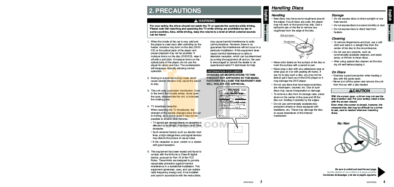 PDF manual for Clarion Speaker SRV303