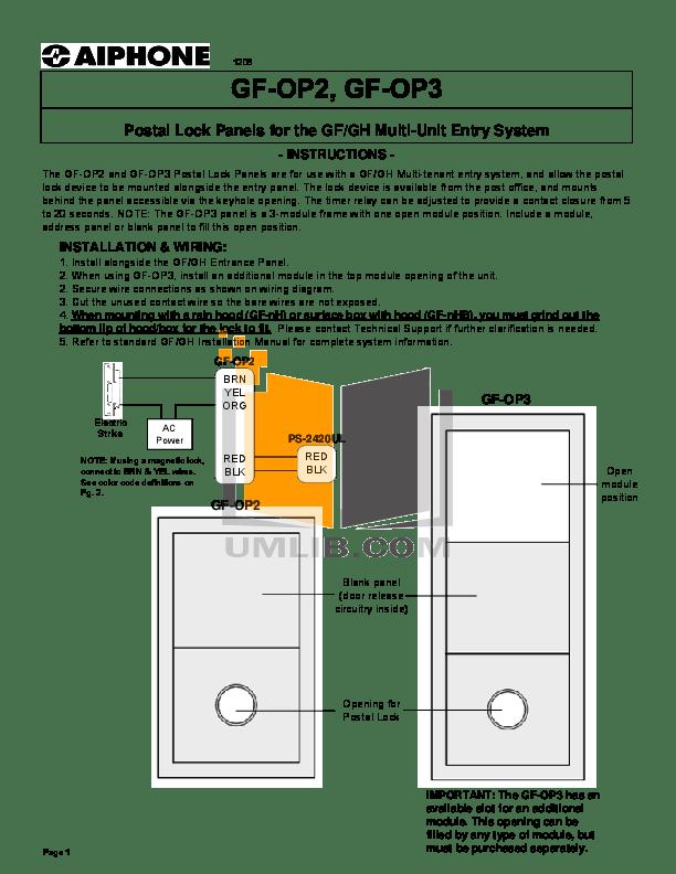 Aiphone GF OP2 OP3 video intercom postal lock panels installation.pdf 0 wat aiphone c ml wiring diagram efcaviation com aiphone c ml wiring diagram at fashall.co
