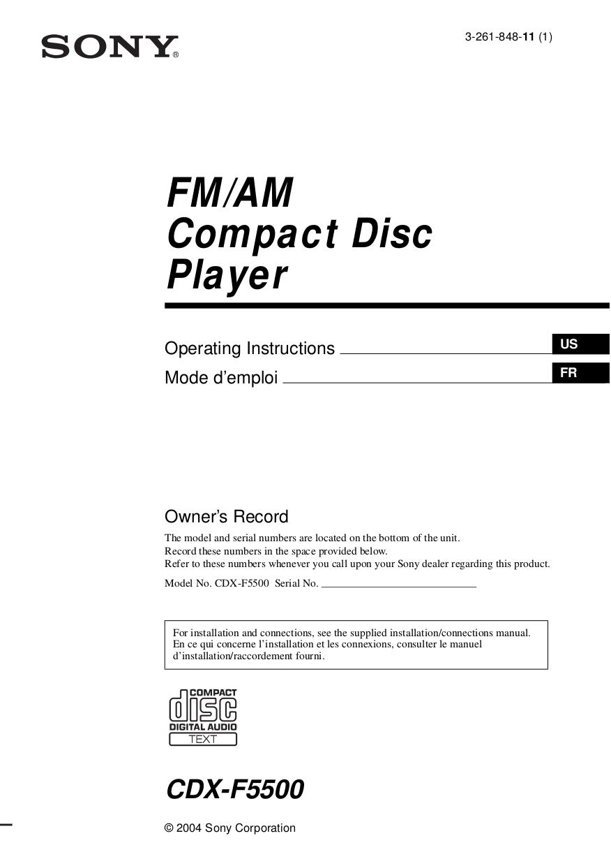 medium resolution of pdf for sony car receiver cdx f5500 manual