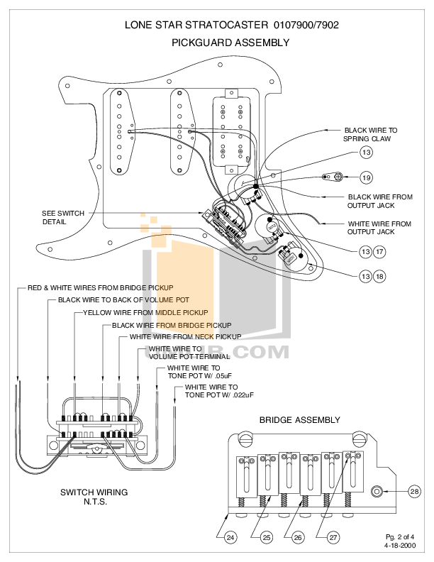 Download free pdf for Fender Lone Star Stratocaster Guitar
