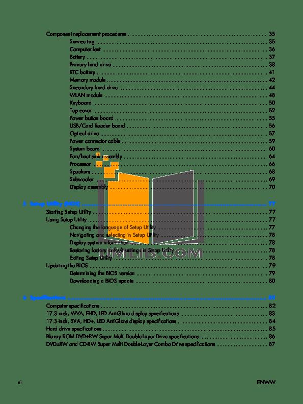PDF manual for HP Laptop Envy 17t-1000