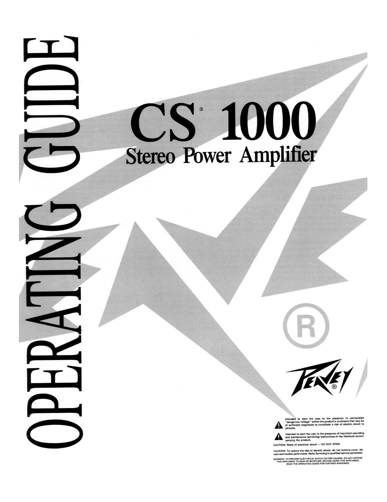 Download free pdf for Peavey CS 1000X Amp manual
