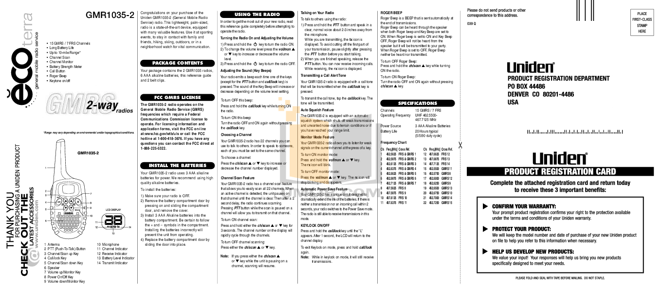 Download free pdf for Cobra CXT85 2-way Radio manual