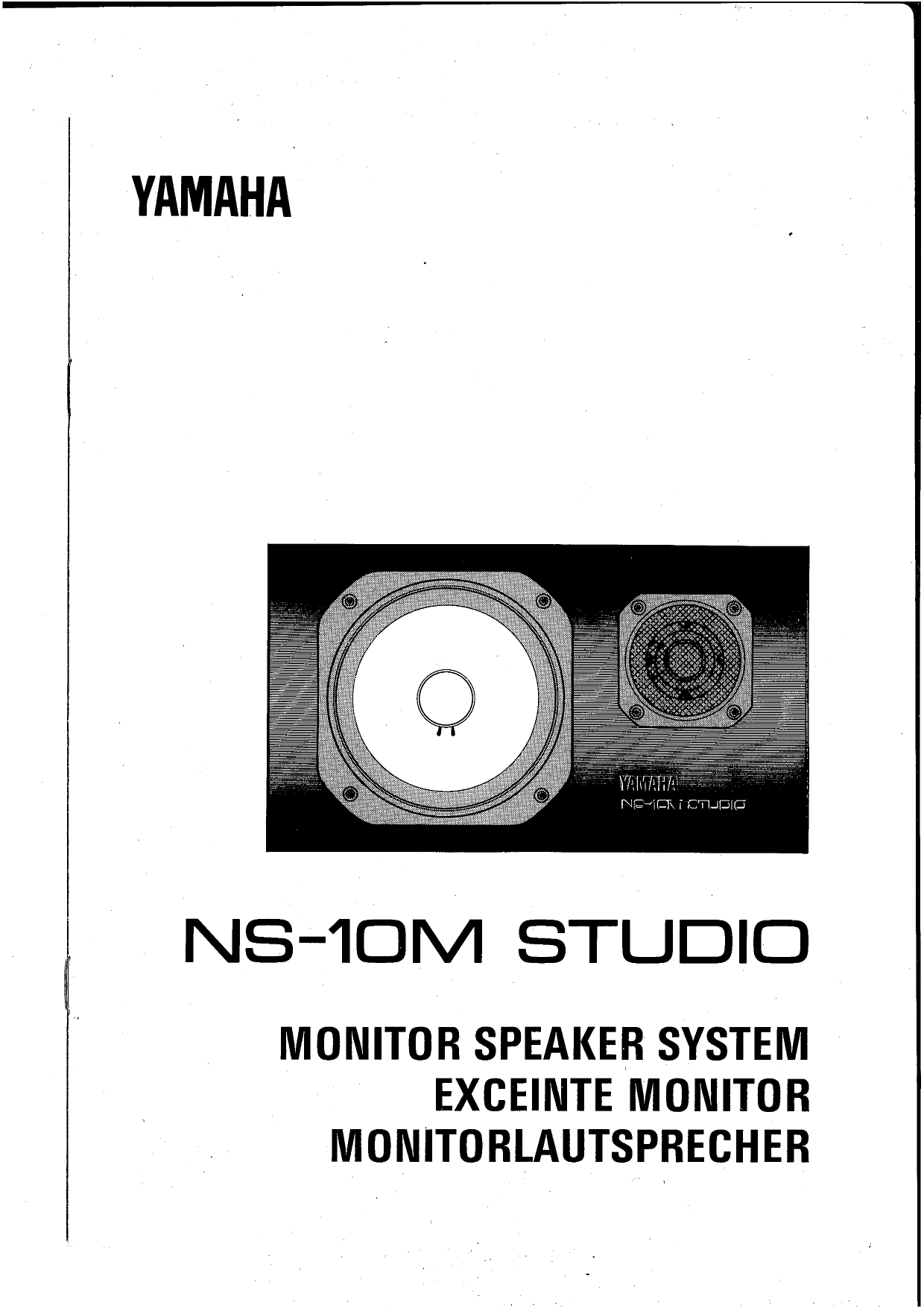 Download free pdf for Yamaha NS-50 Speaker manual