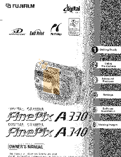 Download free pdf for FujiFilm Finepix A340 Digital Camera