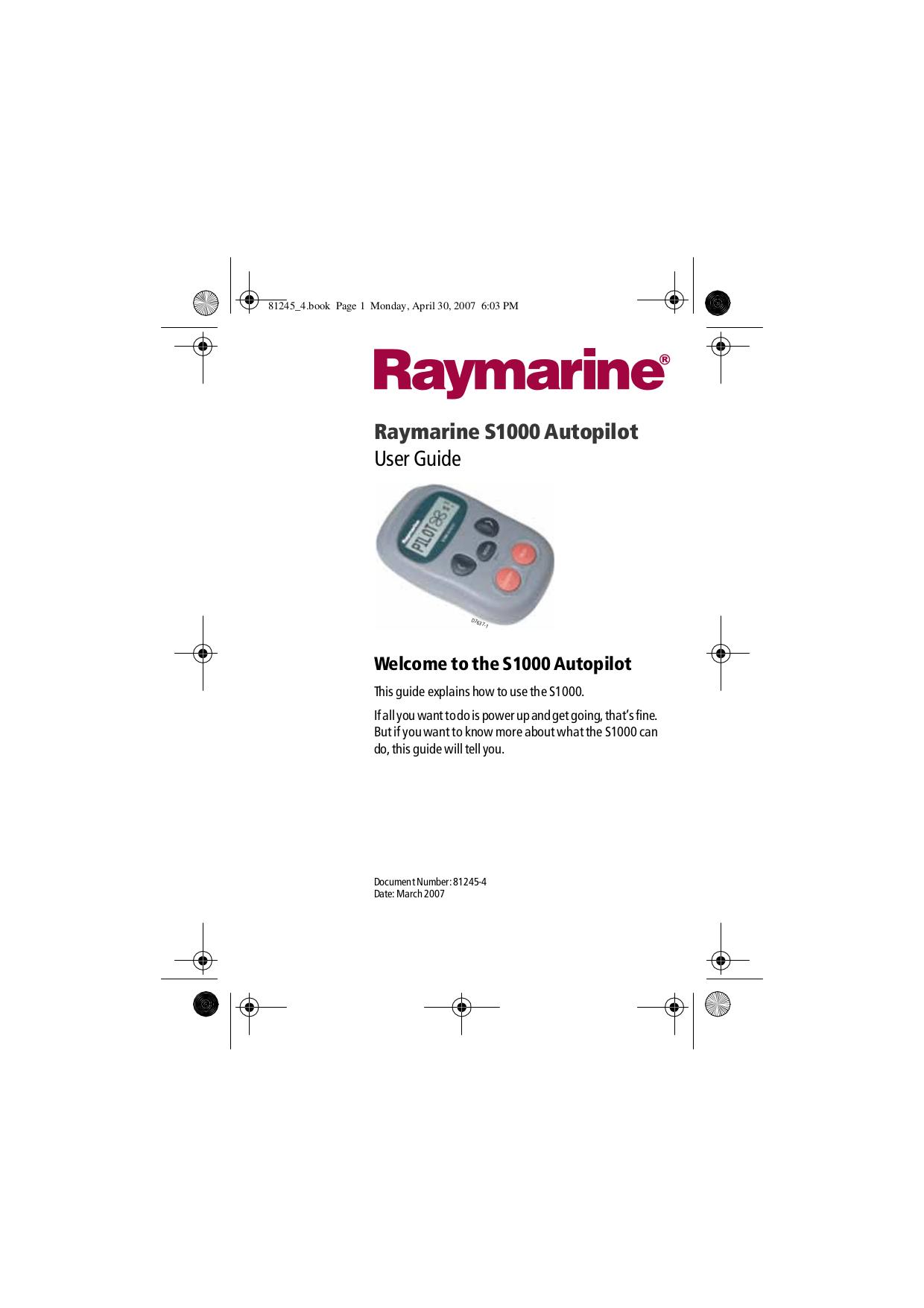 Download free pdf for Raymarine C70 GPS manual