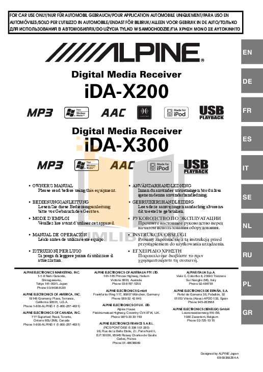 IDA-X300 MANUAL PDF