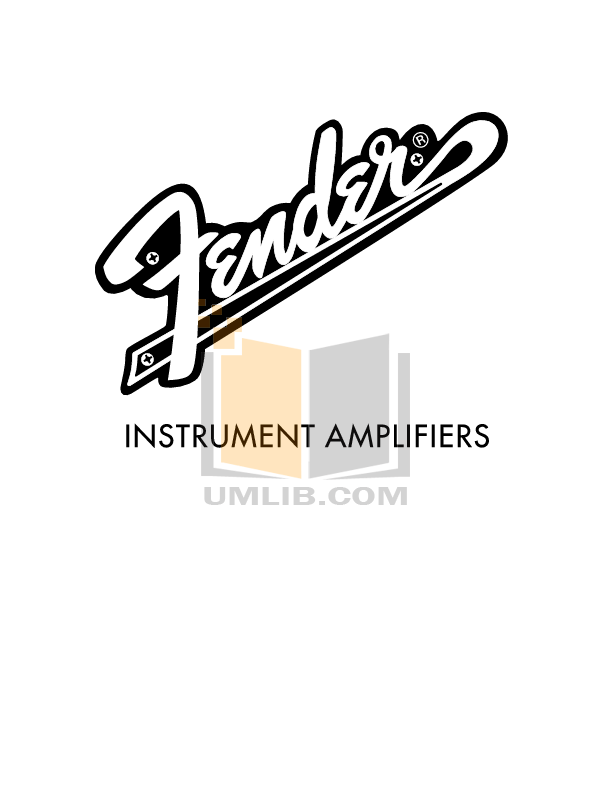 Download free pdf for Fender Super Sonic 112 Amp manual