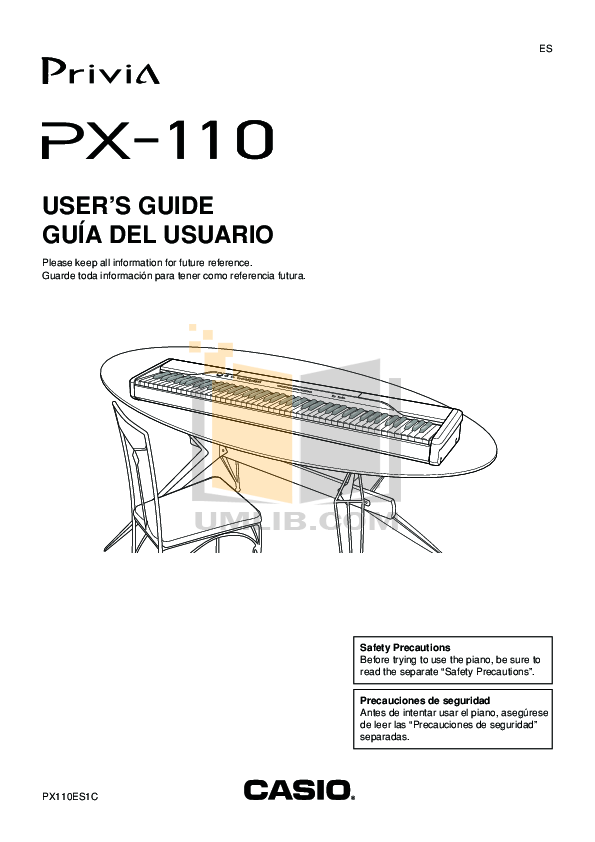 Download free pdf for Casio PX-110 Music Keyboard manual