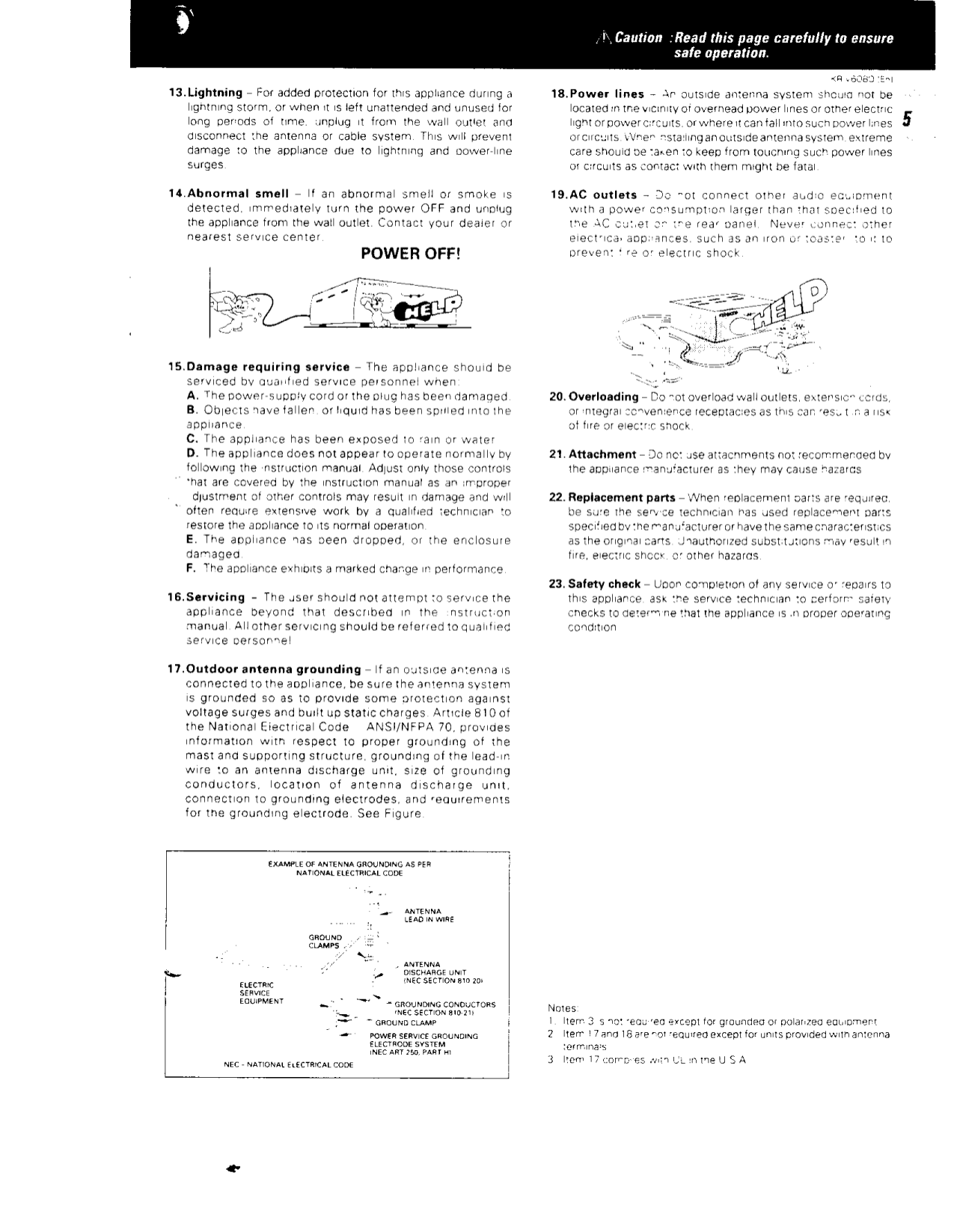 PDF manual for Kenwood Receiver KR-V6080