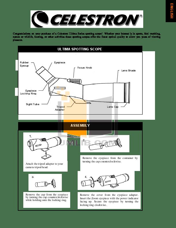 Download free pdf for Celestron Ultima 100 Telescope manual
