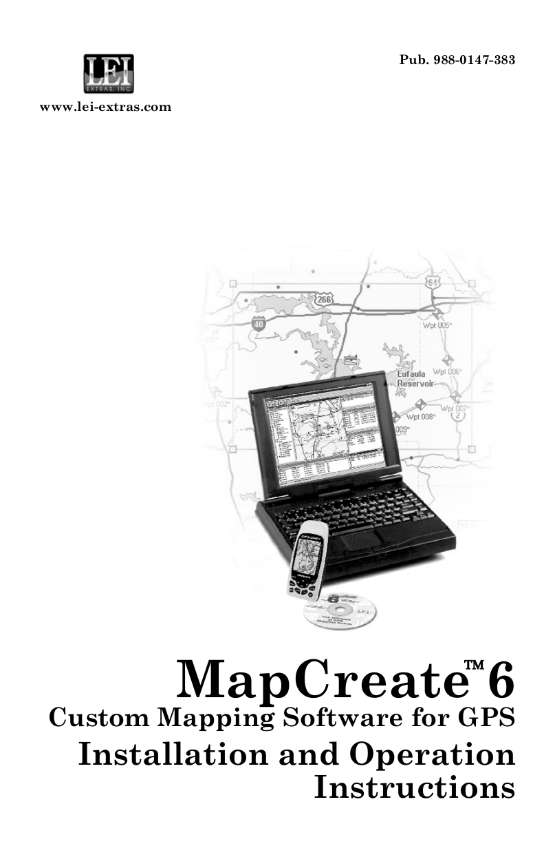 Download free pdf for Lowrance MapCreate 6.3 Software