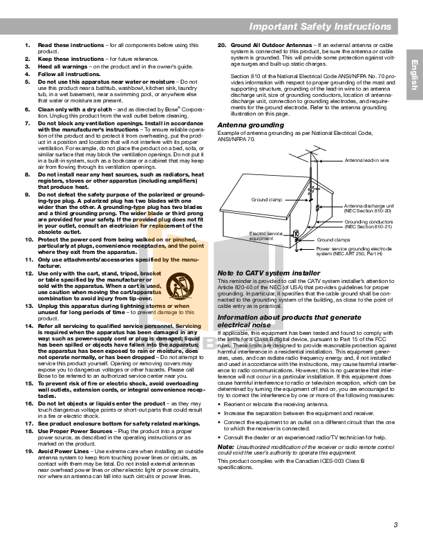 PDF manual for Bose Remote Control Personal Music Center II