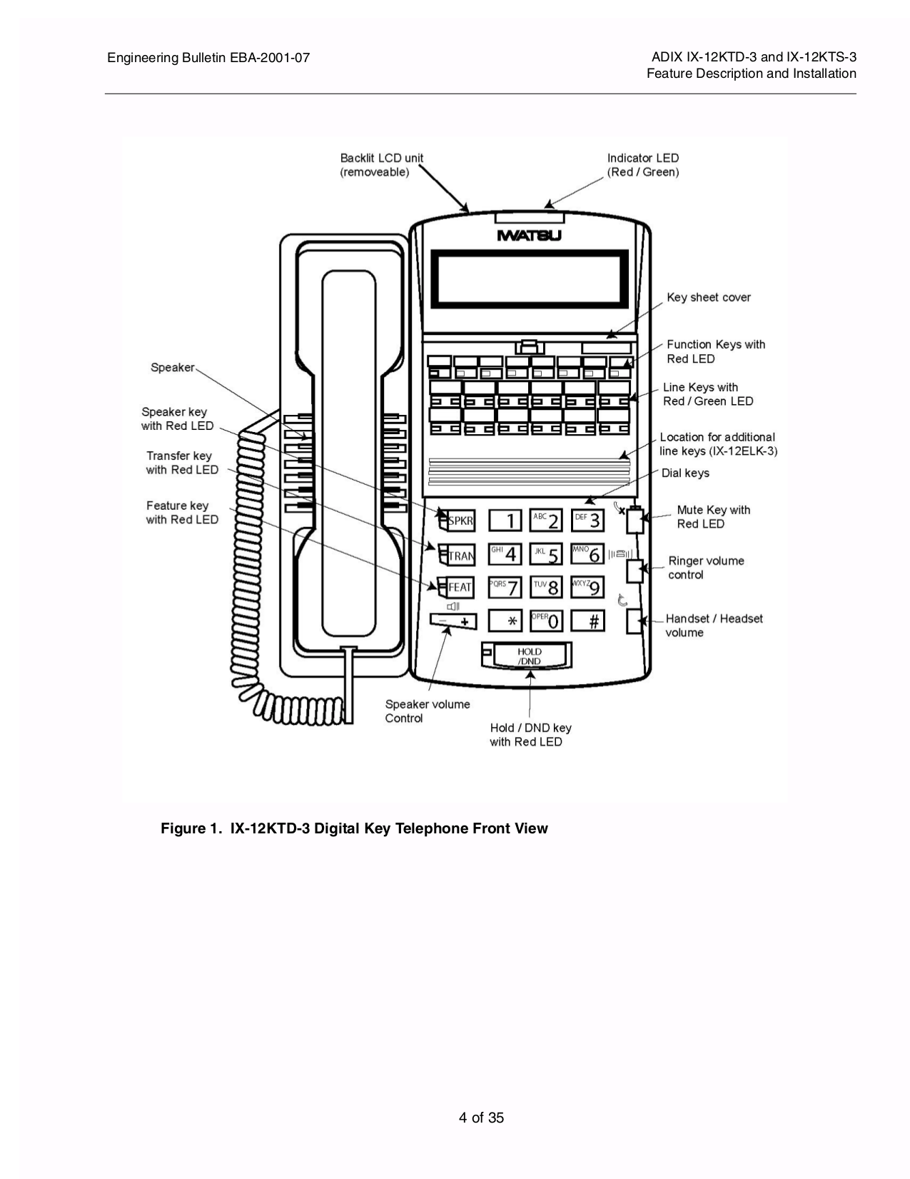PDF manual for Iwatsu Telephone IX-12KTD-3