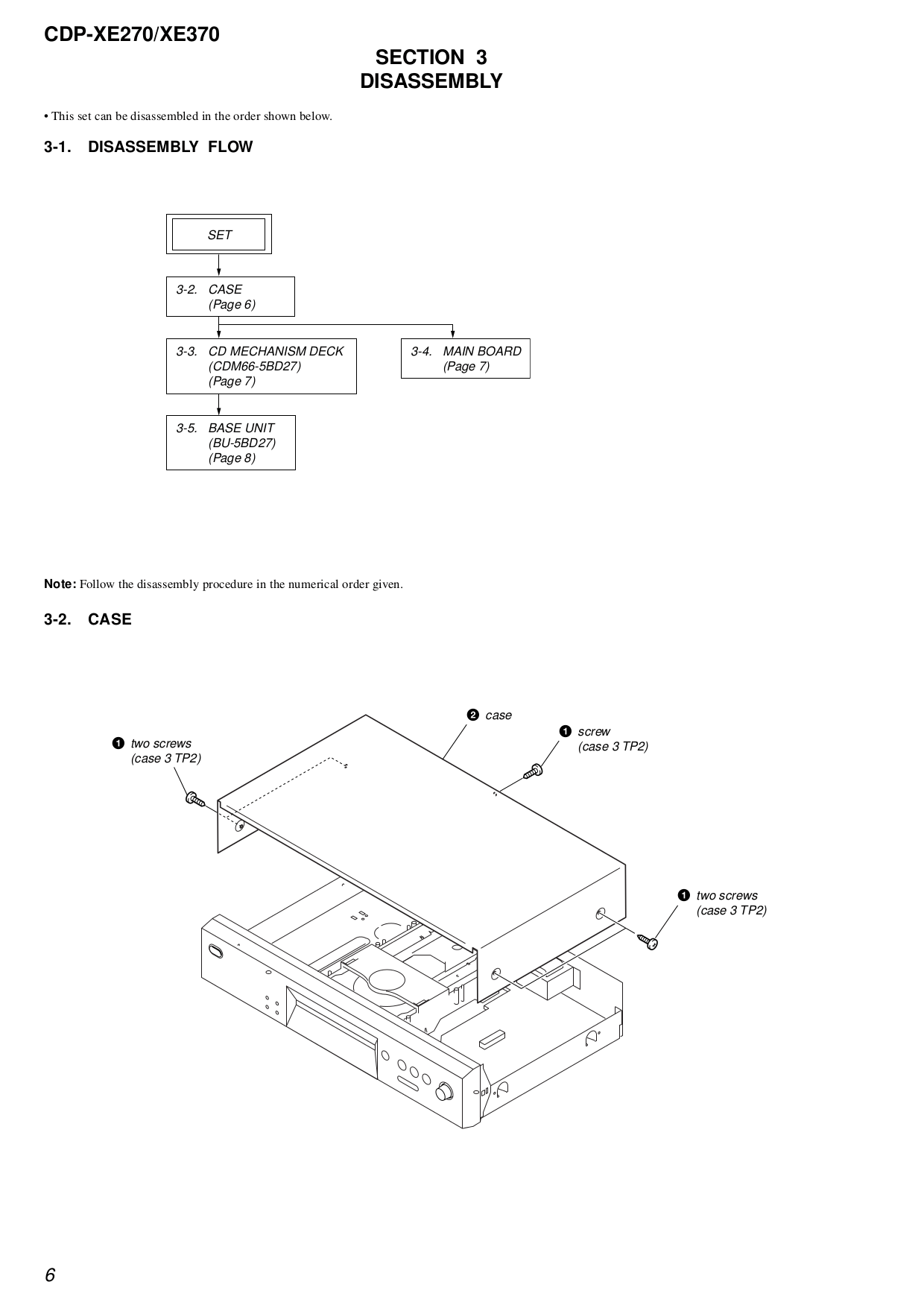 PDF manual for Sony CD Player CDP-XE270