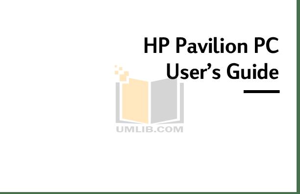 Download free pdf for HP Pavilion 7955 Desktop manual