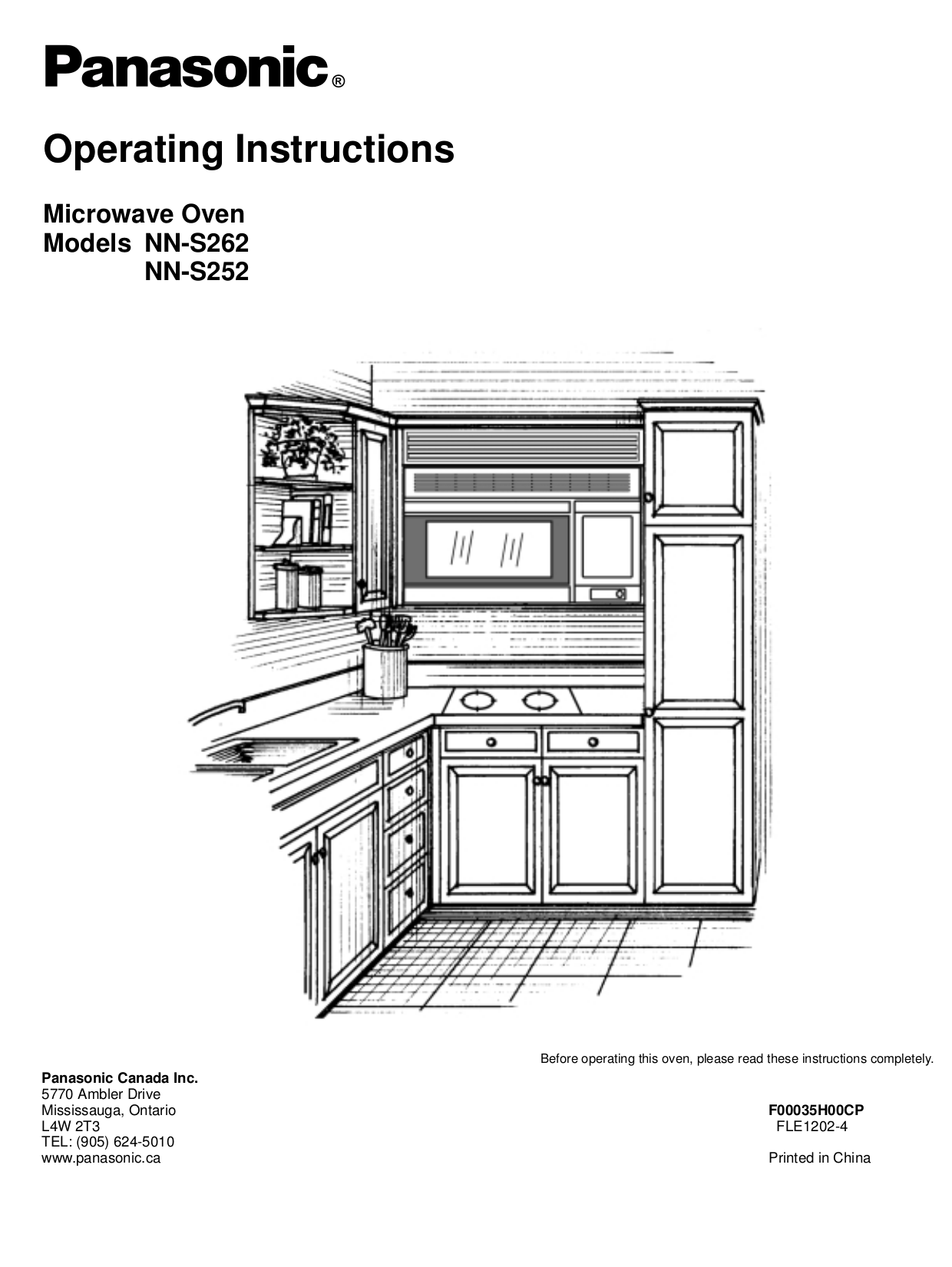 Download free pdf for Panasonic NN-S252 Microwave manual