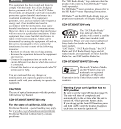 sony car receiver xplod cdx gt130 pdf page preview  [ 876 x 1240 Pixel ]