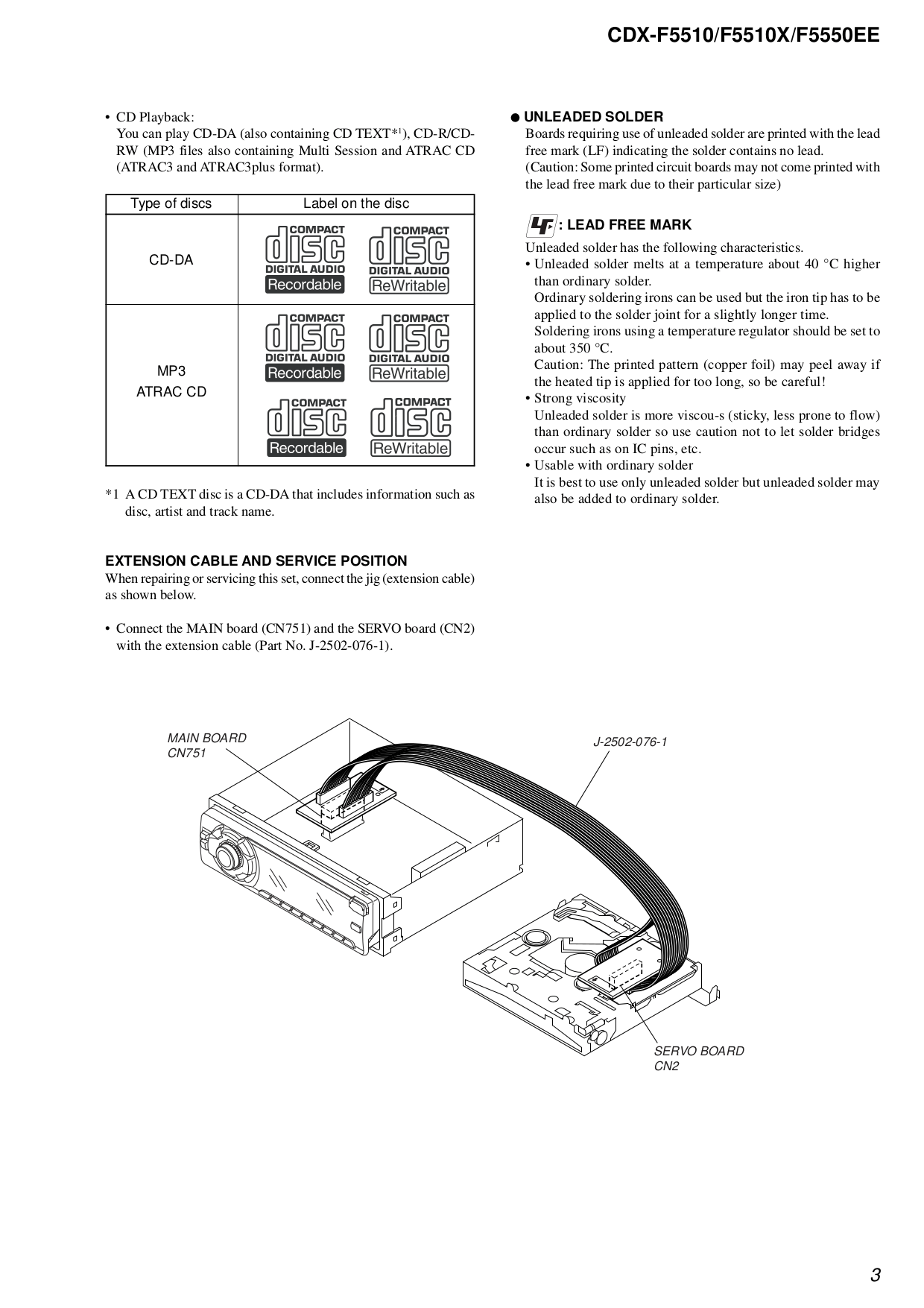 PDF manual for Sony Car Receiver CDX-F5510