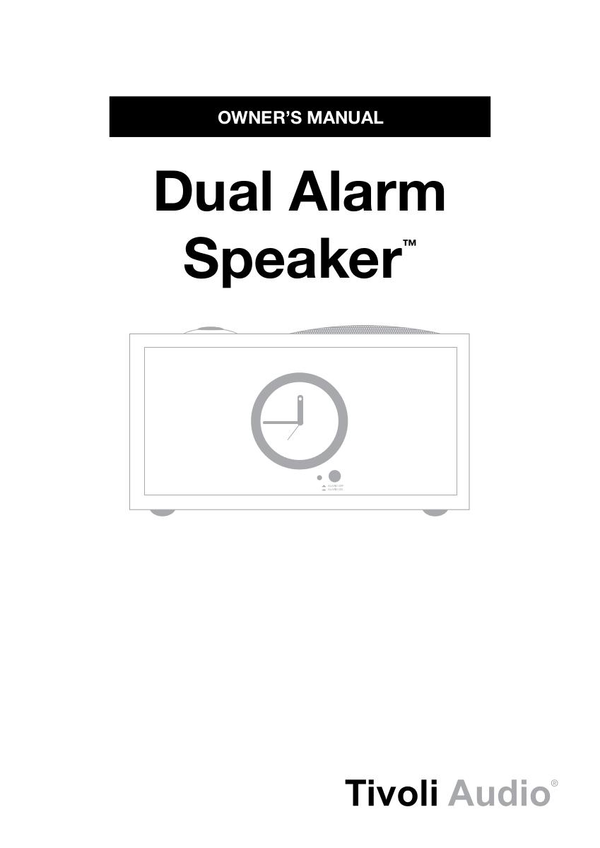 Download free pdf for Tivoli Model Three Dual Alarm