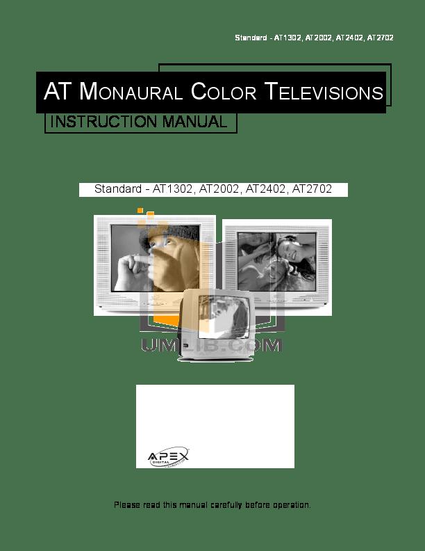 Download free pdf for Apex AT2702S TV manual