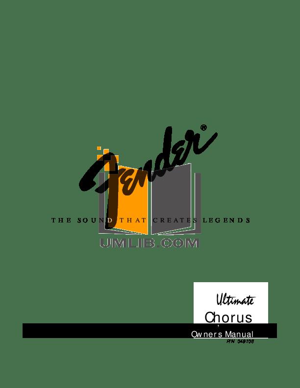Download free pdf for Fender FM212R Amp manual
