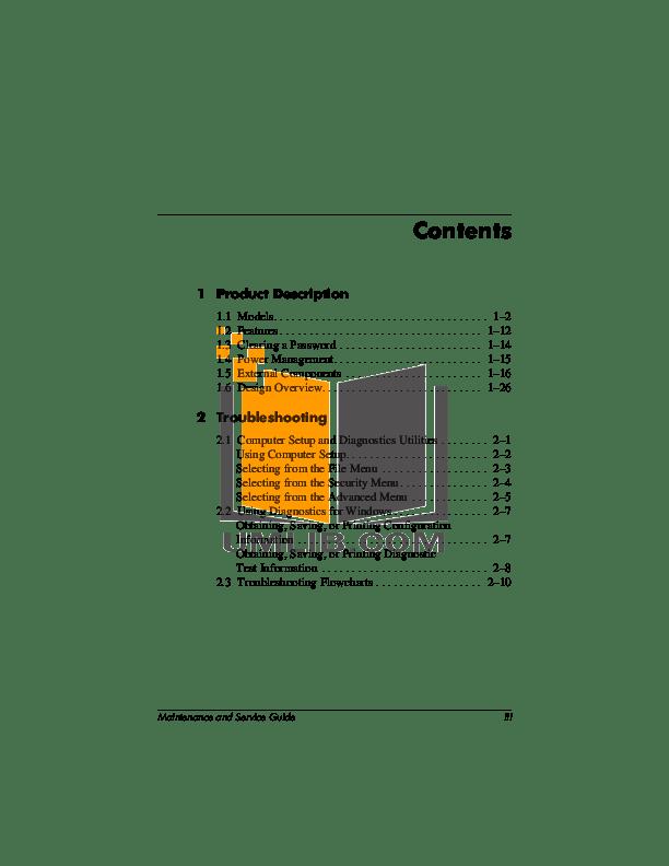 PDF manual for HP Laptop Compaq Presario,Presario X1020