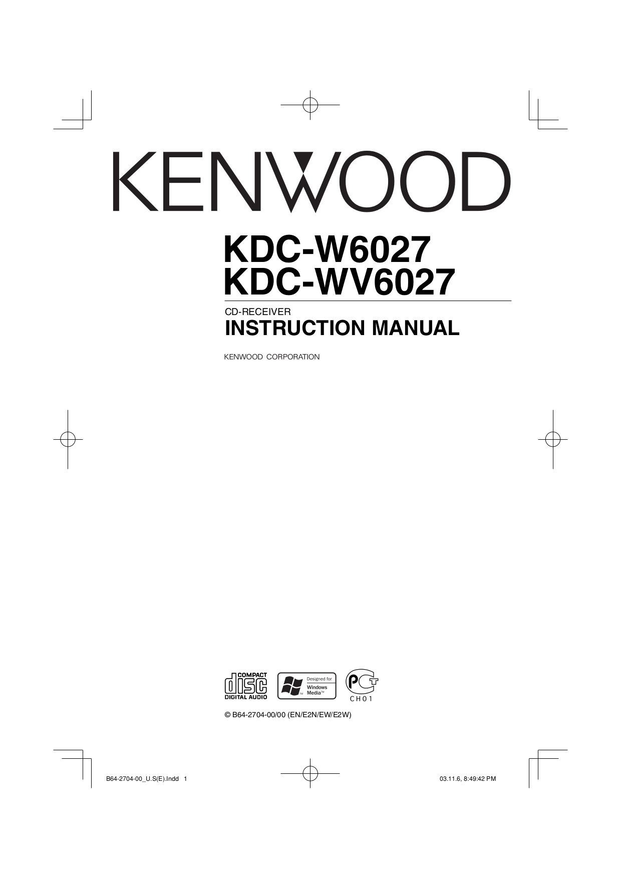 Download free pdf for Kenwood KDC-128 Car Receiver manual